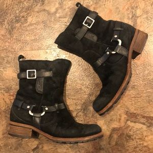 Ugg suede Endell motorcycle boot
